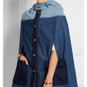 NWT See by Chloe Denim Cape Size 0 (French 34)